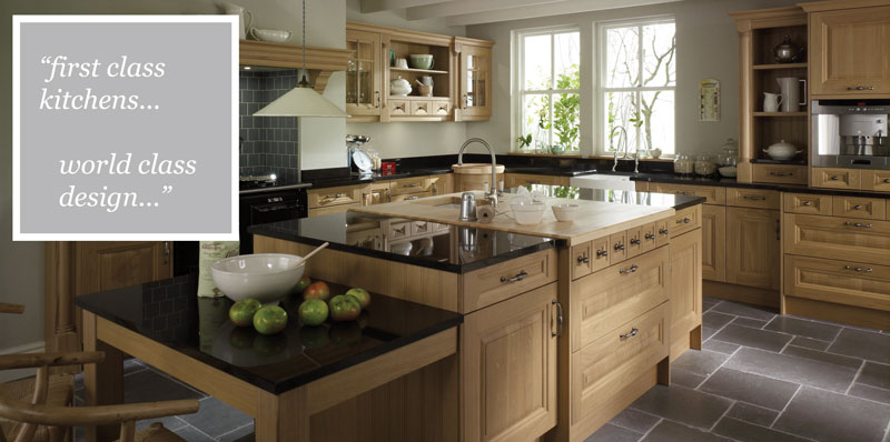 Cornell Oak kitchen range at Kitcheners