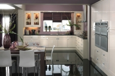 Decor Gloss Oyster Kitchen at Kitcheners of Hereford