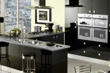 Image Gloss Black Kitchen at Kitcheners of Hereford