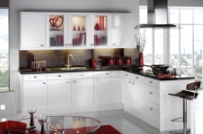Image Gloss White Kitchen at Kitcheners of Hereford