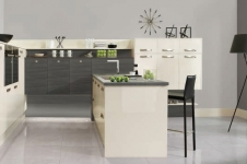 Image Gloss Oyster with Avola Grey Brown Kitchen at Kitcheners of Hereford