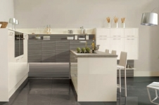 Image Gloss Oyster with Driftwood Kitchen at Kitcheners of Hereford