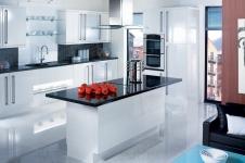 Gloss White Kitchen at Kitcheners of Hereford
