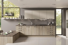 Tempo Grey Bardolino Oak with Stone Grey Kitchen at Kitcheners of Hereford