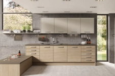Tempo Aragon Oak with Stone Grey Kitchen at Kitcheners of Hereford